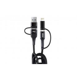 Multikábel USB C - USB /iOs/USB A FullLINK 100cm
