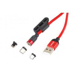 Multikábel USB Lightning/USB C/micro USB 100cm